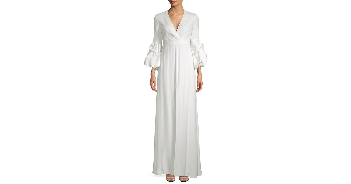 Alexis Nova Gathered Sleeve Maxi Dress