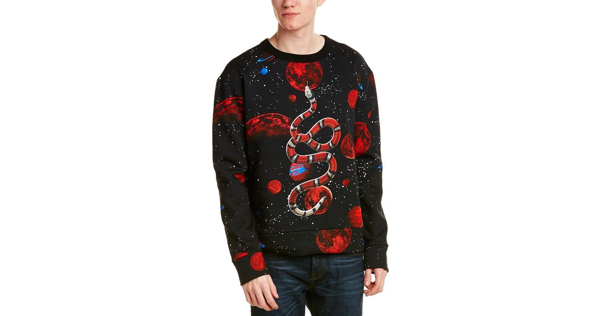 d3ced99f Gucci Space Snake Print Sweatshirt in Black for Men - Lyst