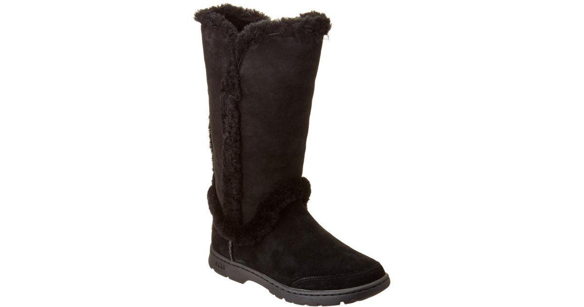 22410a6d0e2 Ugg - Black Women's Katia Waterproof Suede Tall Boot - Lyst