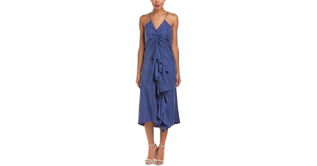 60f1a2b9 Jack Meets Kate Drawstring Maxi Dress in Blue - Lyst