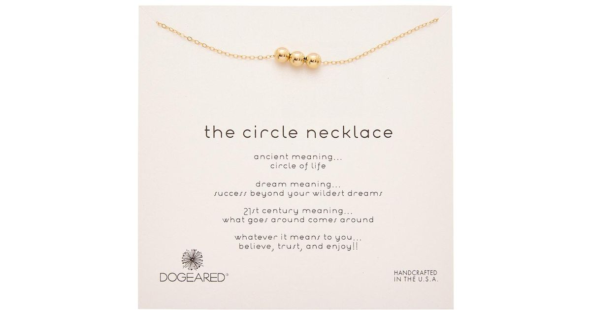 Lyst dogeared 14k gold over silver the circle necklace in metallic aloadofball Image collections