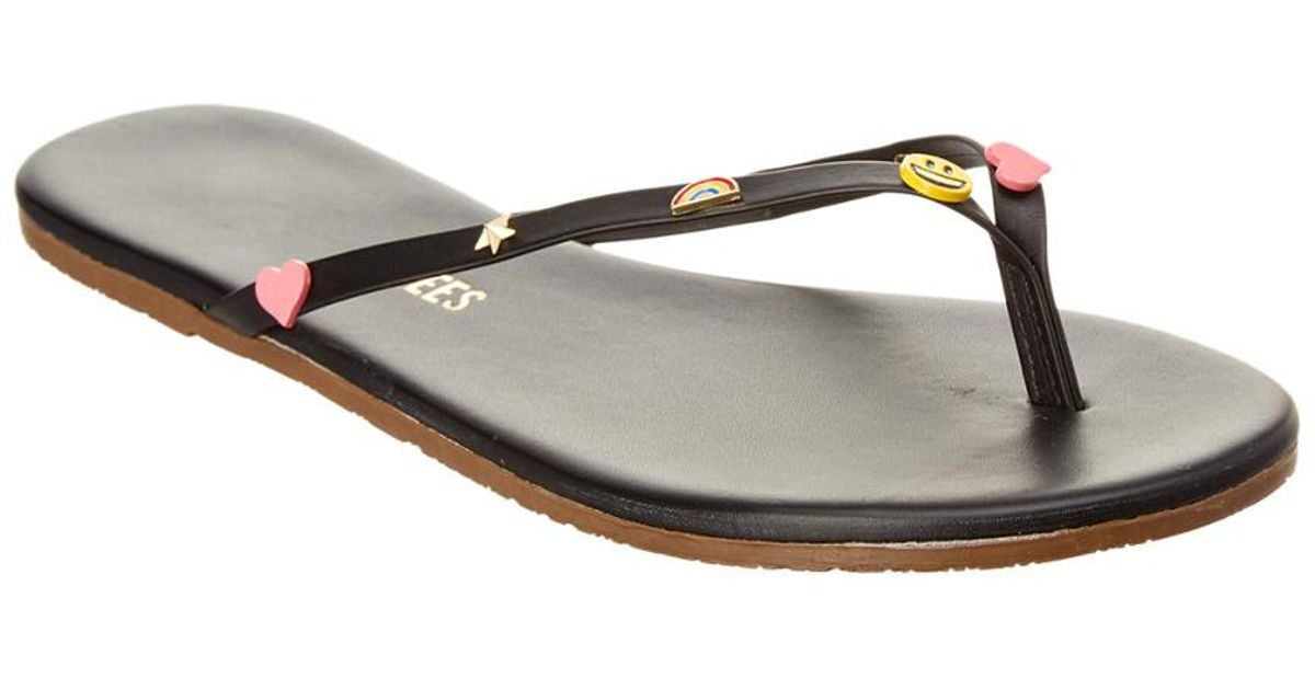 3fe3f90619fa6 Lyst - Tkees Emoji Flip Flop in Black
