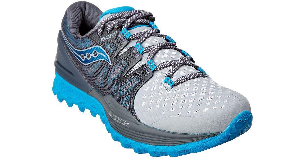 e75e73f1eb34 Saucony Men s Xodus Iso 2 Running Shoe in Gray for Men - Lyst
