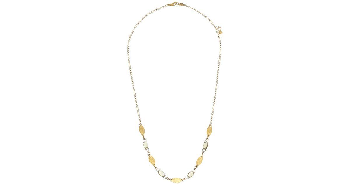 Gurhan 24k Thin Willow Bloom Leaf Necklace w/ Quartz DXgklh