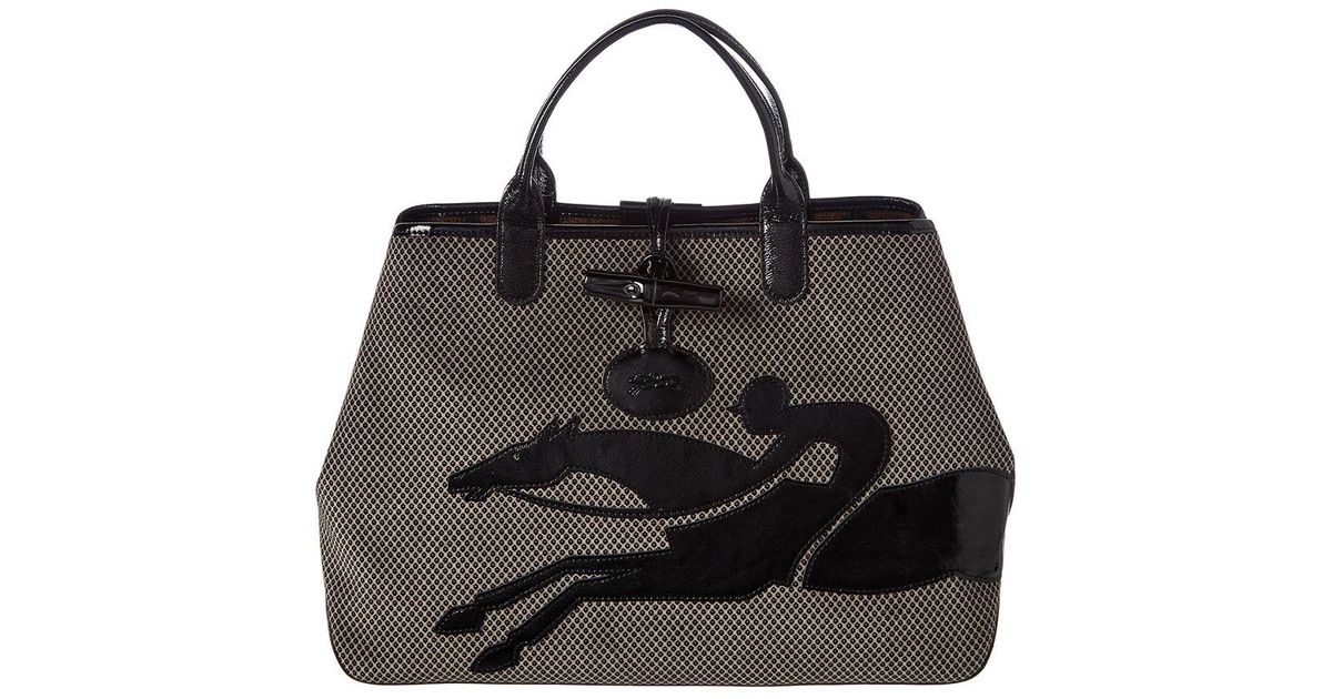 Lyst - Longchamp Roseau Double-jeu Large Tote in Brown a230c041bca70