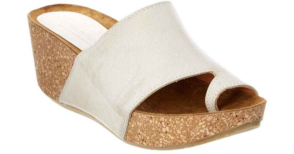 fac2112c434 Lyst - Donald J Pliner Ginie Leather Wedge Sandal