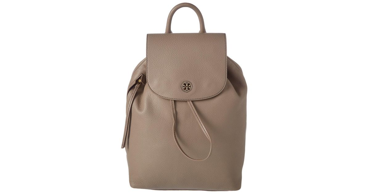 b5238ccdb86d Lyst - Tory Burch Brody Leather Backpack in Gray