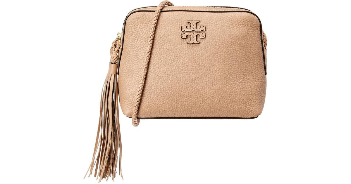 9a1ccbc550bd Lyst - Tory Burch Taylor Leather Camera Bag in Natural