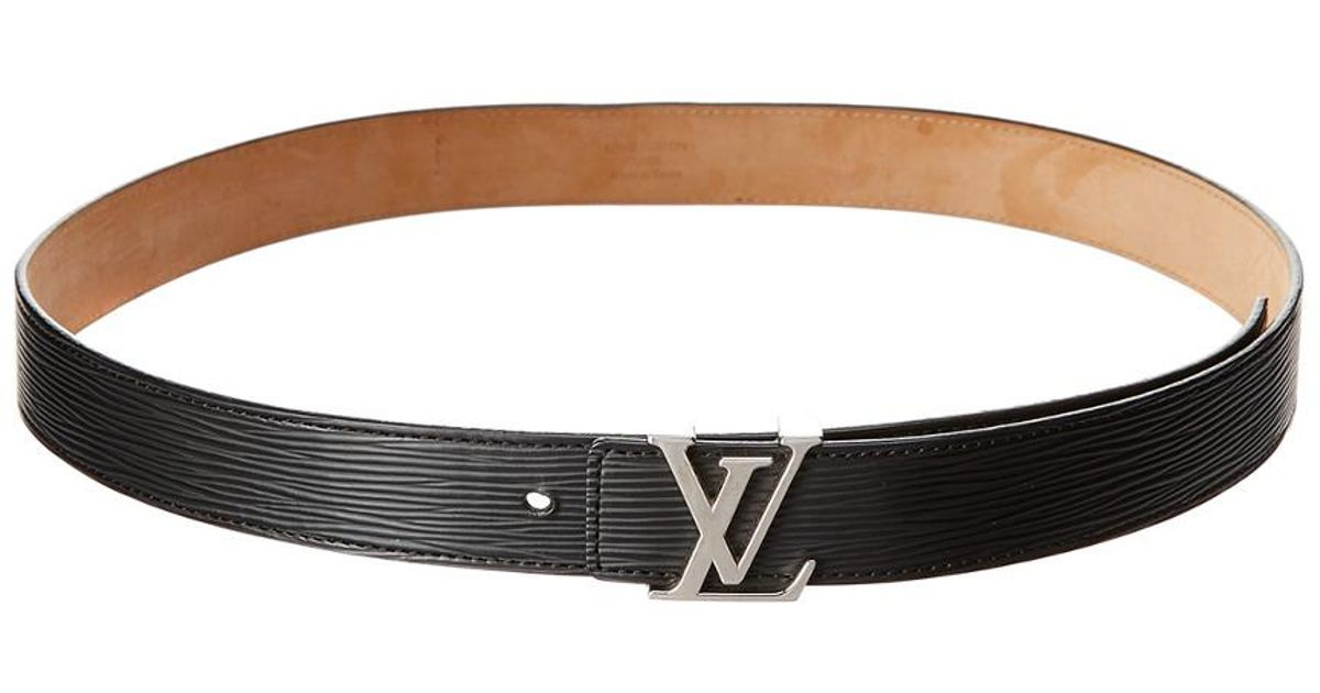 50bdb49dfa4b Lyst - Louis Vuitton Black Epi Leather Lv Initiales Belt (size 90) in Brown
