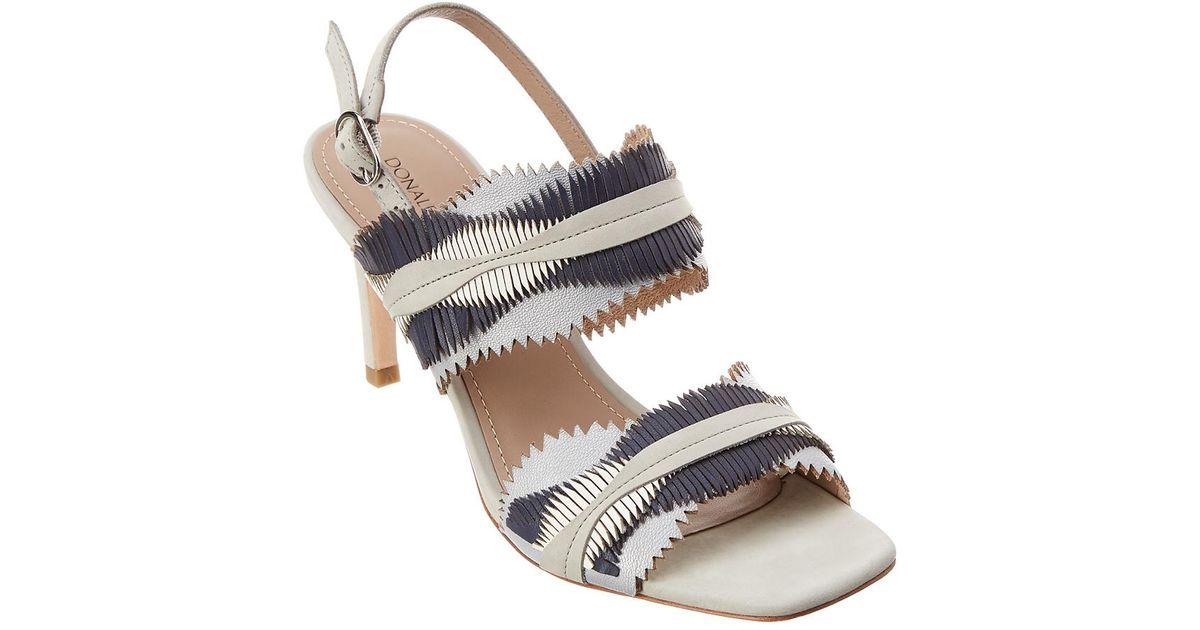 329f505b8652 Lyst - Donald J Pliner Kit Leather Sandal in White