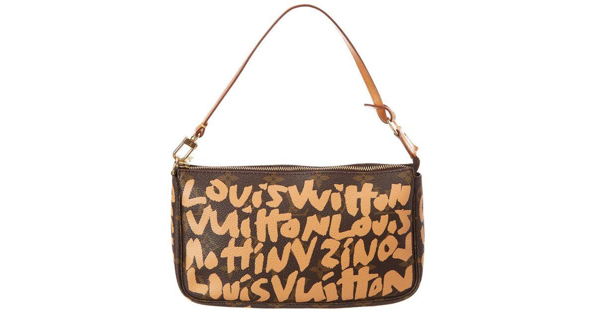 7d31b044355c Lyst - Louis Vuitton Limited Edition Stephen Sprouse Graffiti Monogram  Canvas Pochette accessoires