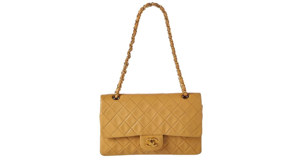256bf1053c55b1 Chanel Beige Quilted Lambskin Leather Medium Reissue 2.55 Flap Bag - Lyst