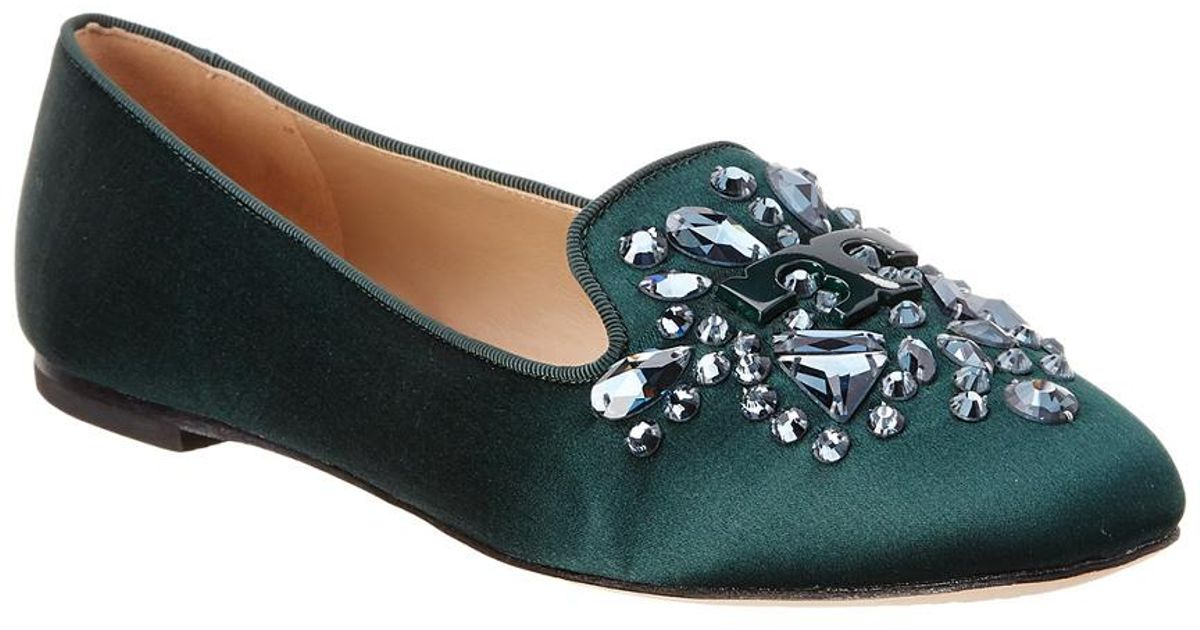 80e2b727eac Lyst - Tory Burch Delphine Loafer in Green