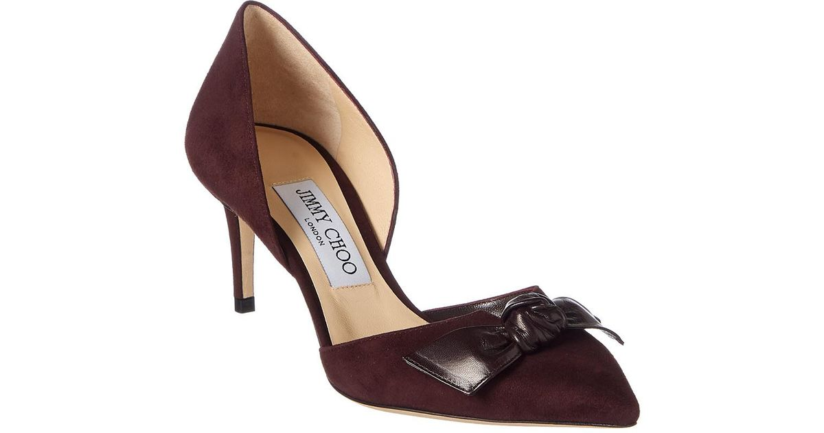 Jimmy choo Women's Twinkle 85 Suede d'Orsay Pumps Buy Cheap Shop For Grey Outlet Store Online yxpaVMBuOP