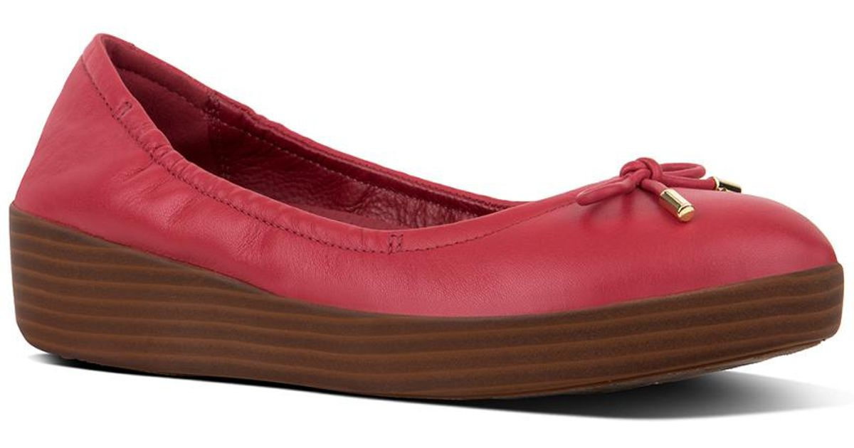 999f3693117c Lyst - Fitflop Superbendy Ballerina Flat in Red