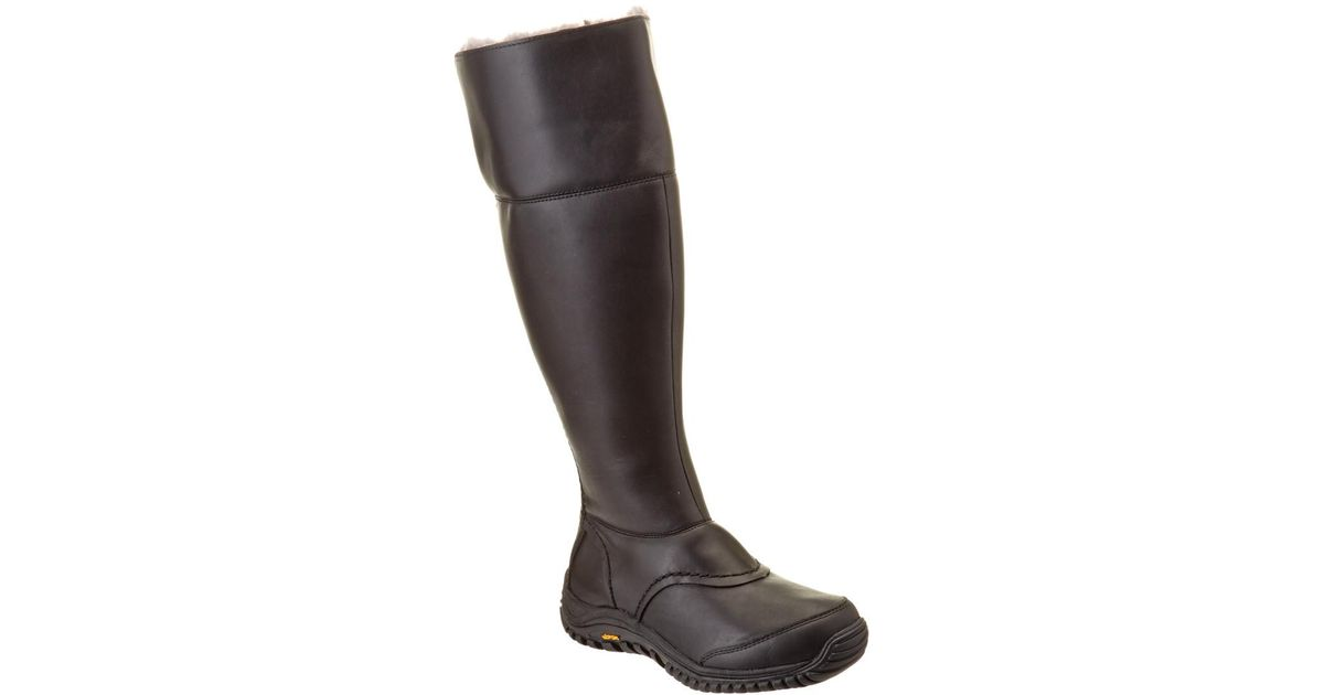 a30201ff877 Ugg - Black Women's Miko Waterproof Leather Tall Boot - Lyst