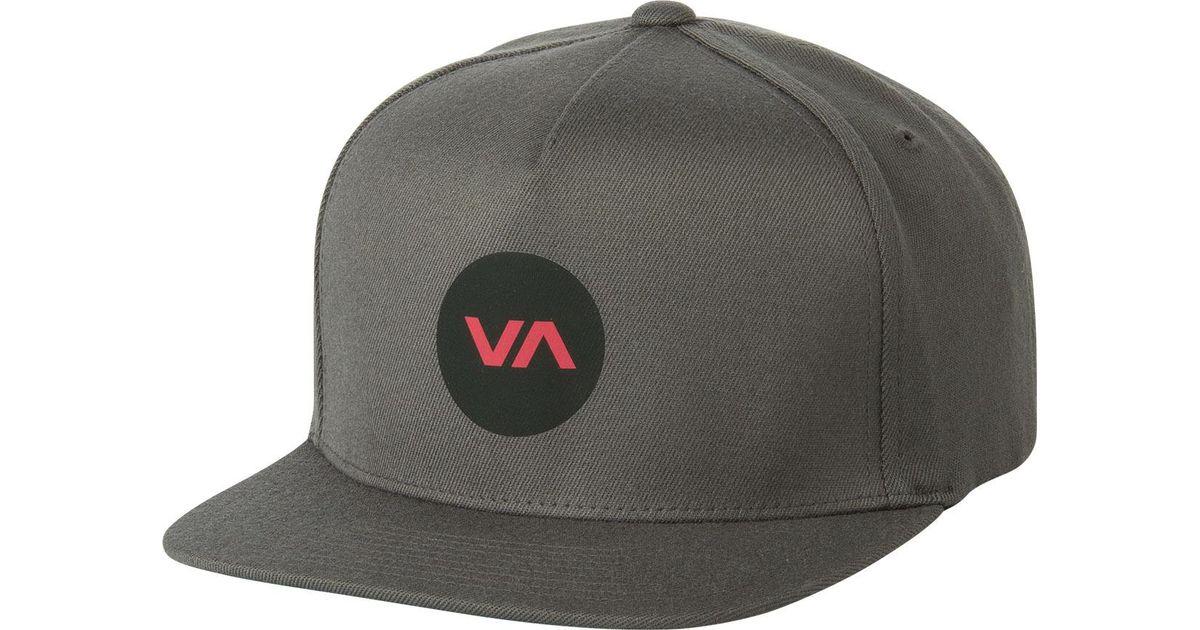 188e5ce1e8fe8e RVCA Bruce Fitted Hat in Gray for Men - Lyst