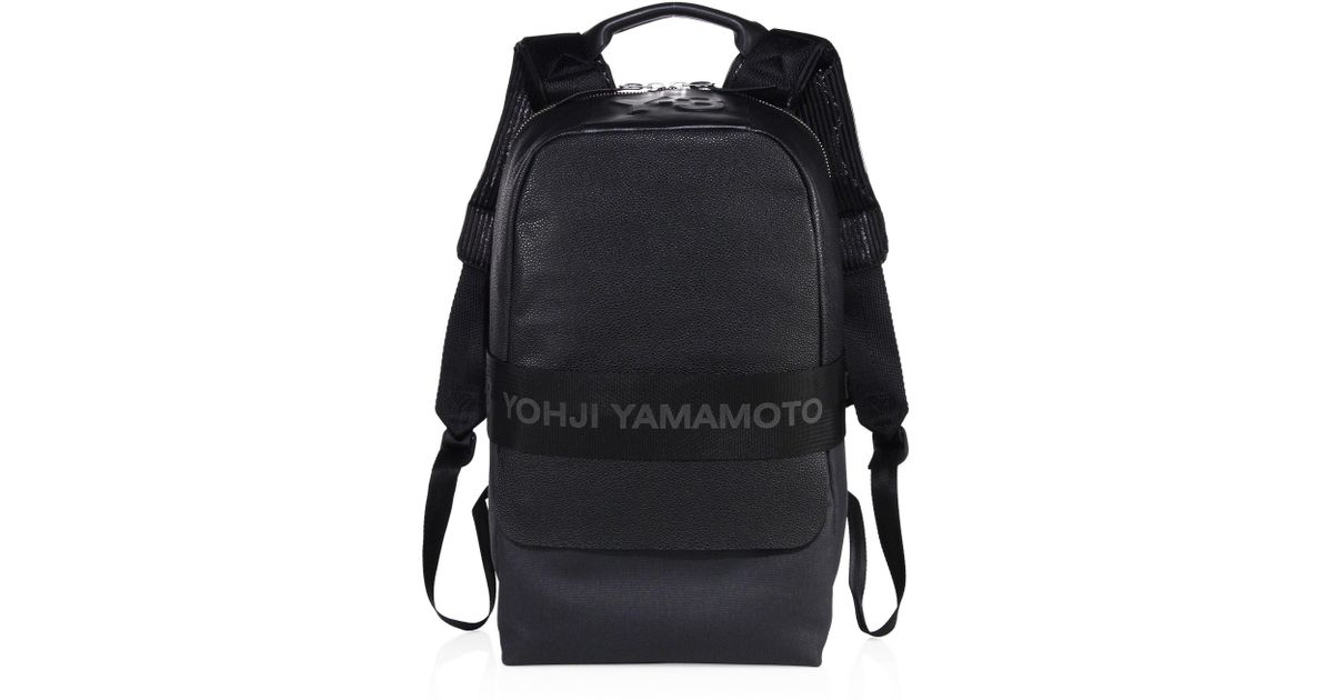 Lyst - Y-3 Qasa Leather Backpack in Black for Men 63e852f062bc8