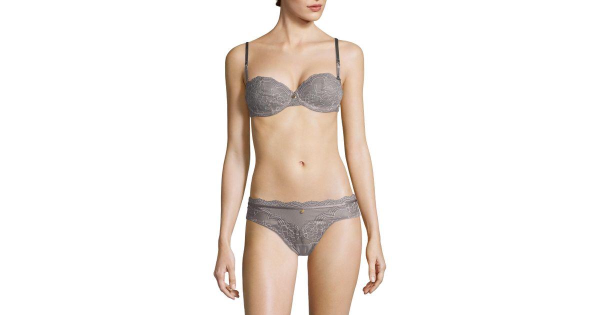 b964327858924 Lyst - Chantelle Women s Presage Lace Demi Bra - Smoked Pink - Size 32 C