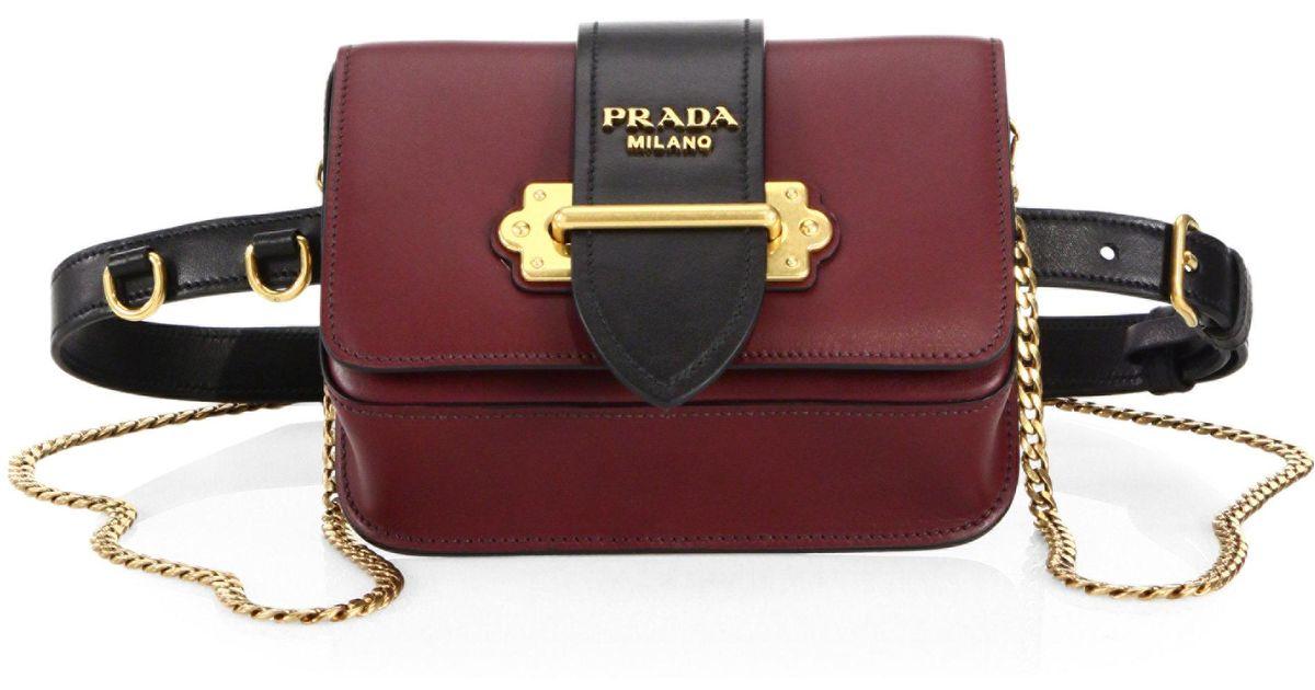 17eaa618e647 ... real lyst prada marsupio leather belt bag eeff1 45de0
