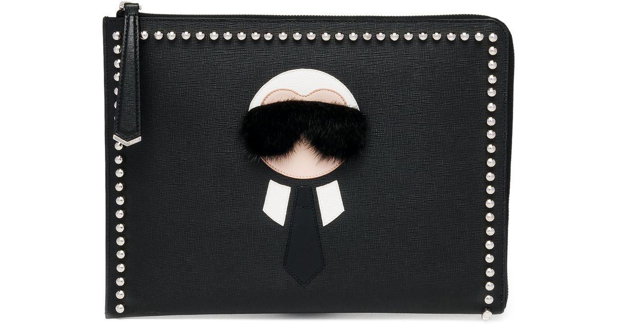 Karlito coin purse - Black Fendi 2MgMLoUxTy