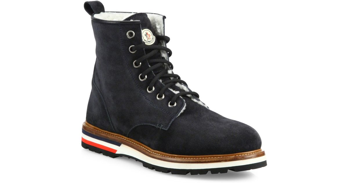 moncler new vancouver leather boot for lyst