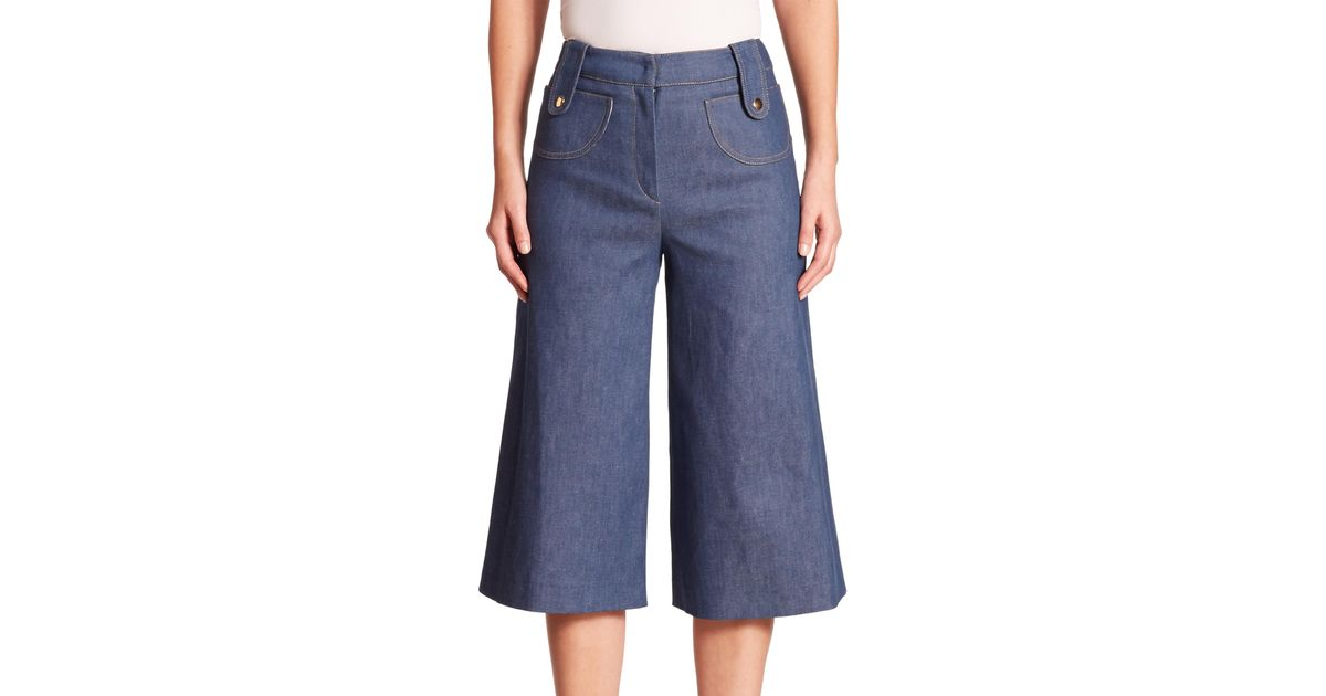 Derek Lam Denim Culotte In Blue