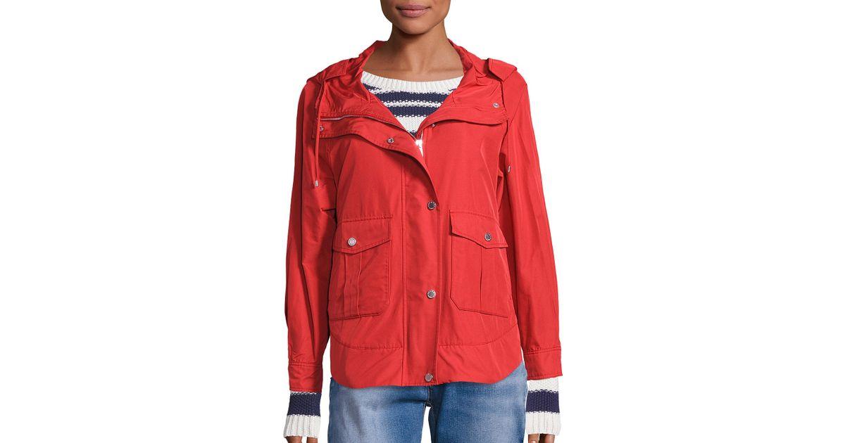 Lyst - Weekend by Maxmara Donata Short Raincoat in Red 7cf97334d6e