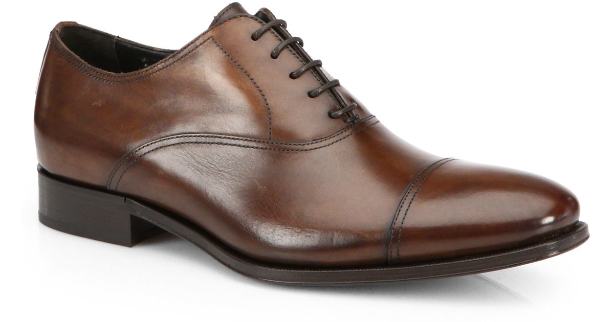 To BootAidan Leather Cap Toe Oxfords