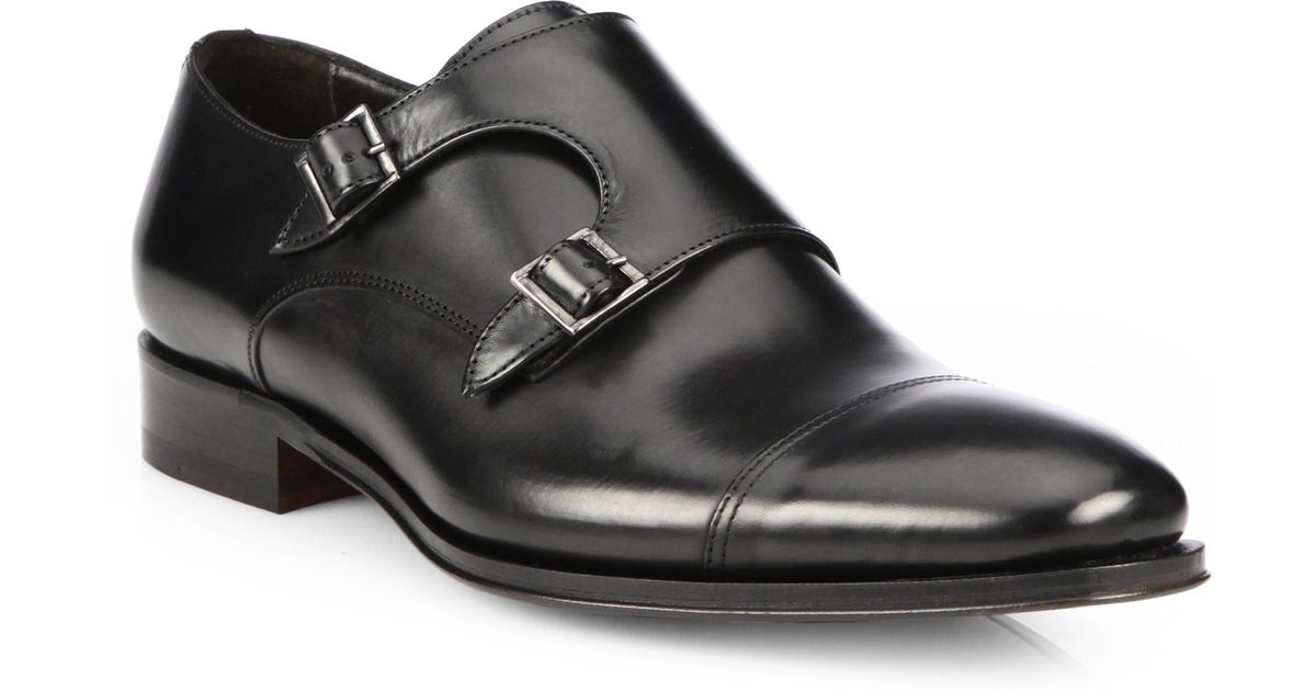 To BootGrant Double-Buckle Monk-Strap Shoes O3B0BaLz0q