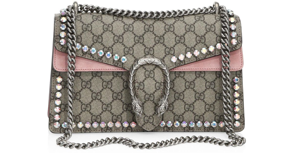 fd7e597d662 Gucci Small Dionysus Crystal-embellished Chain Shoulder Bag - Lyst