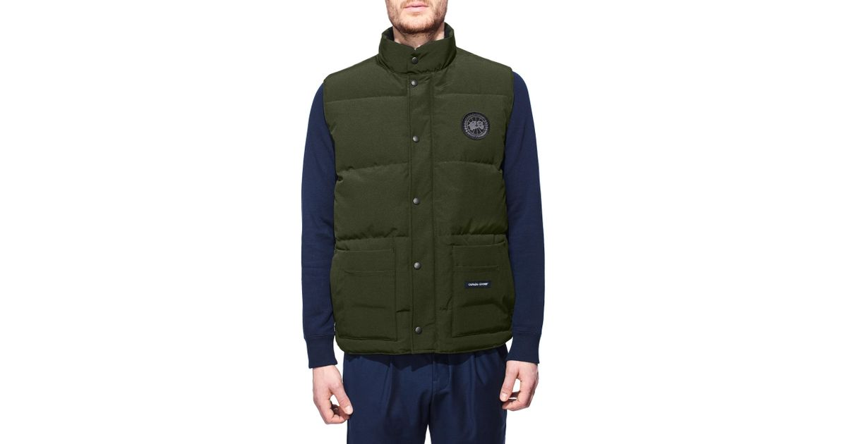 426c57dc4725 Lyst - Canada Goose Freestyle Military Down Vest Black Label in Green for  Men