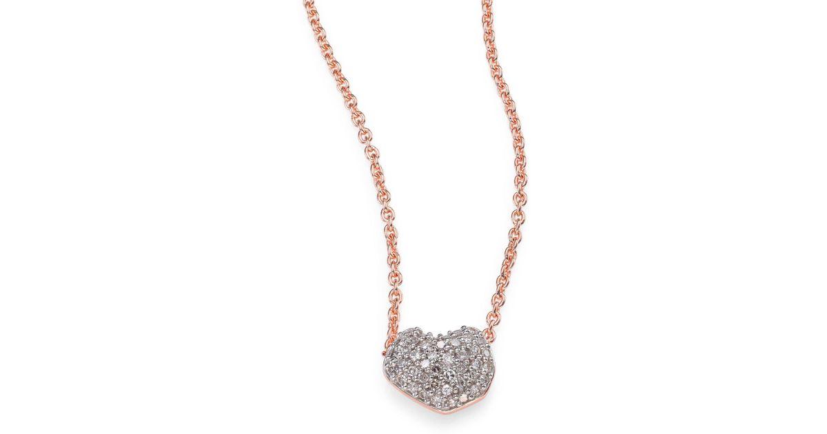 Lyst monica vinader nura mini heart diamond pendant necklace in lyst monica vinader nura mini heart diamond pendant necklace in metallic aloadofball Choice Image