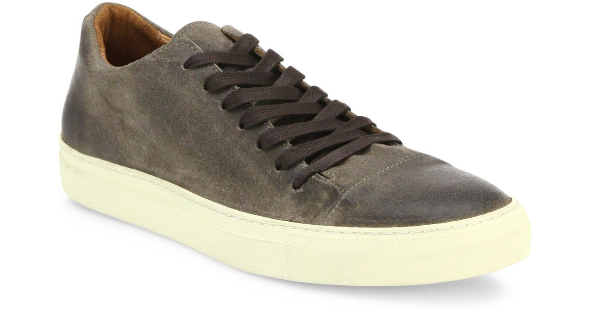 John VarvatosSuede Lace-Up Sneakers