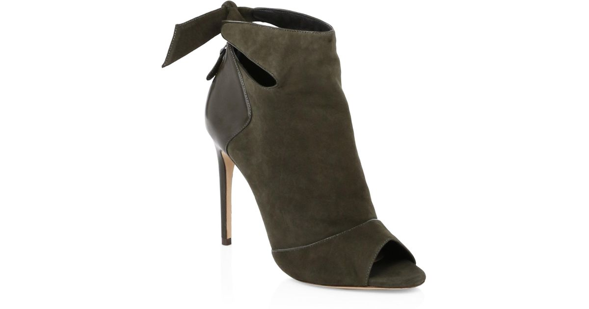 ALEXANDRE BIRMAN Tory Suede & Leather Open Toe Booties uEmVnCYi