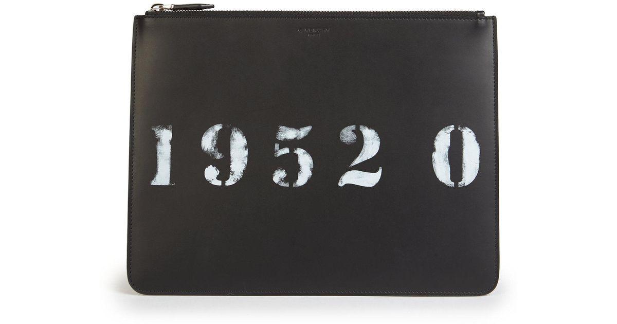 collections Rabais Dernière Créatures Givenchy Imprimer Poche Zippée - Noir Rabais Pas Cher HcFP9