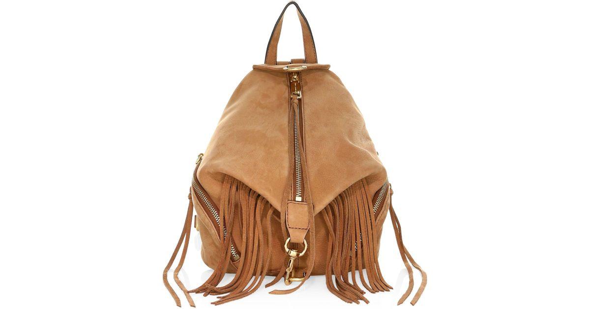 780081453f57 Lyst - Rebecca Minkoff Women s Stevie Medium Leather Backpack - Dusty Peach  in Brown