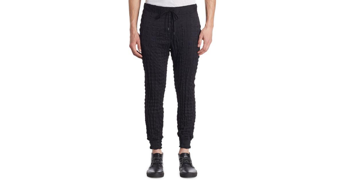 b97b3579b8868 Issey Miyake Torus Jersey Jogger Pants in Black for Men - Lyst