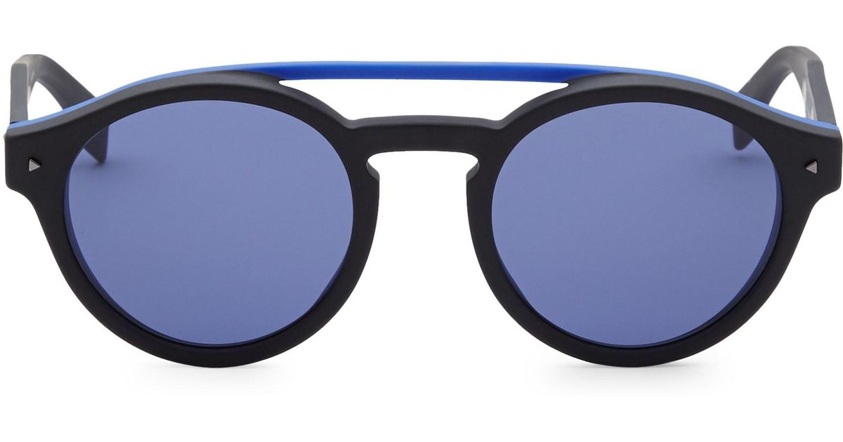 91aba43893c Lyst - Fendi 51mm Round Sunglasses in Black for Men