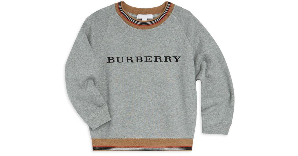 f97220d23f67 Burberry Little Boy s   Boy s Hectore Cotton Sweatshirt - Grey - Size 8 in  Gray for Men - Lyst
