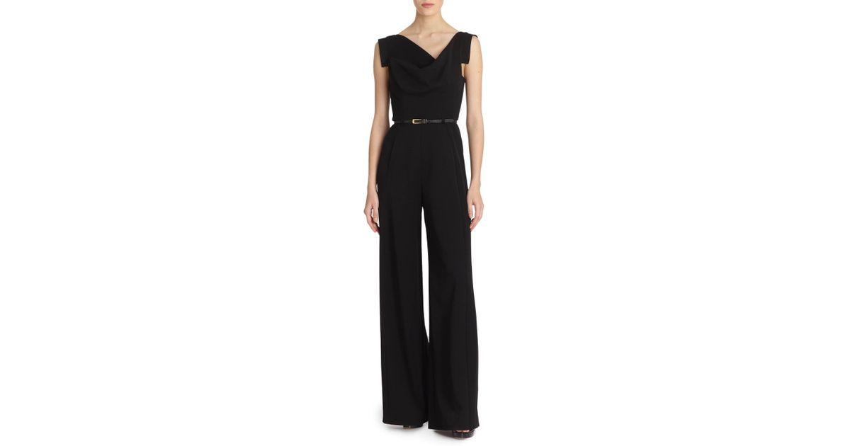 5eba5a04e155 Lyst - Black Halo Women s Jackie O Jumpsuit - Black - Size 4 in Black