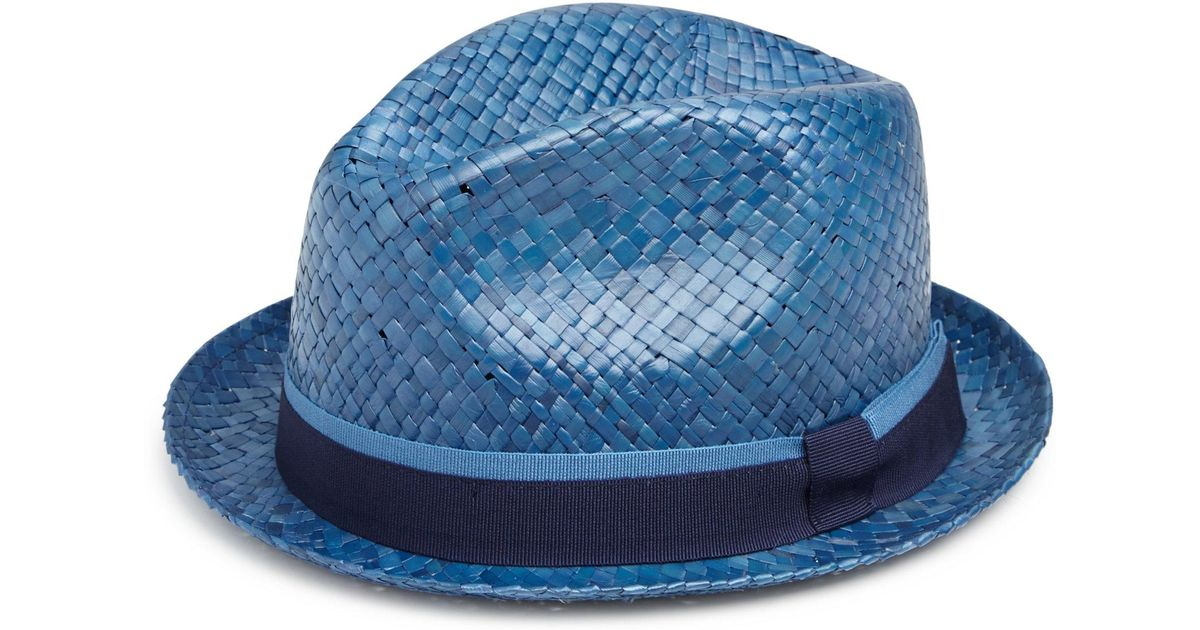 Paul Smith Bovens Panama Hat in Blue for Men - Lyst 43c0726ecb7c