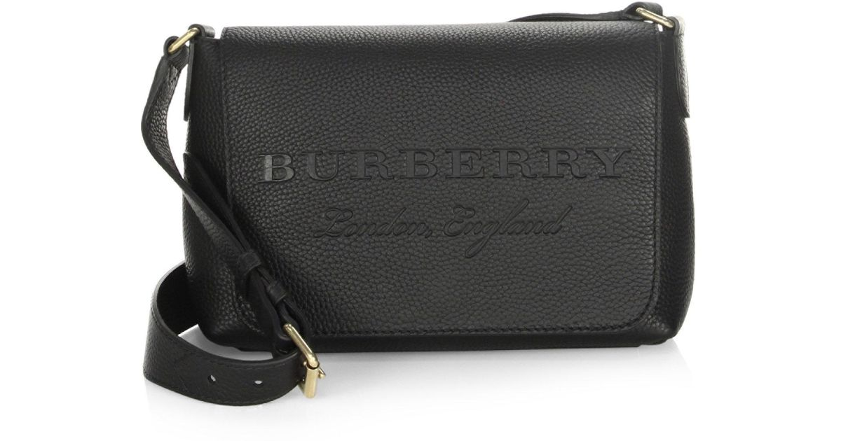 24f47f35677 Burberry Burleigh Small Leather Crossbody Bag in Black - Lyst