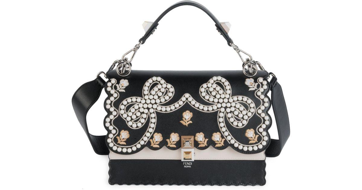 Black Medium Fendi In Lyst Kan Bag Leather I wX0O8Pkn