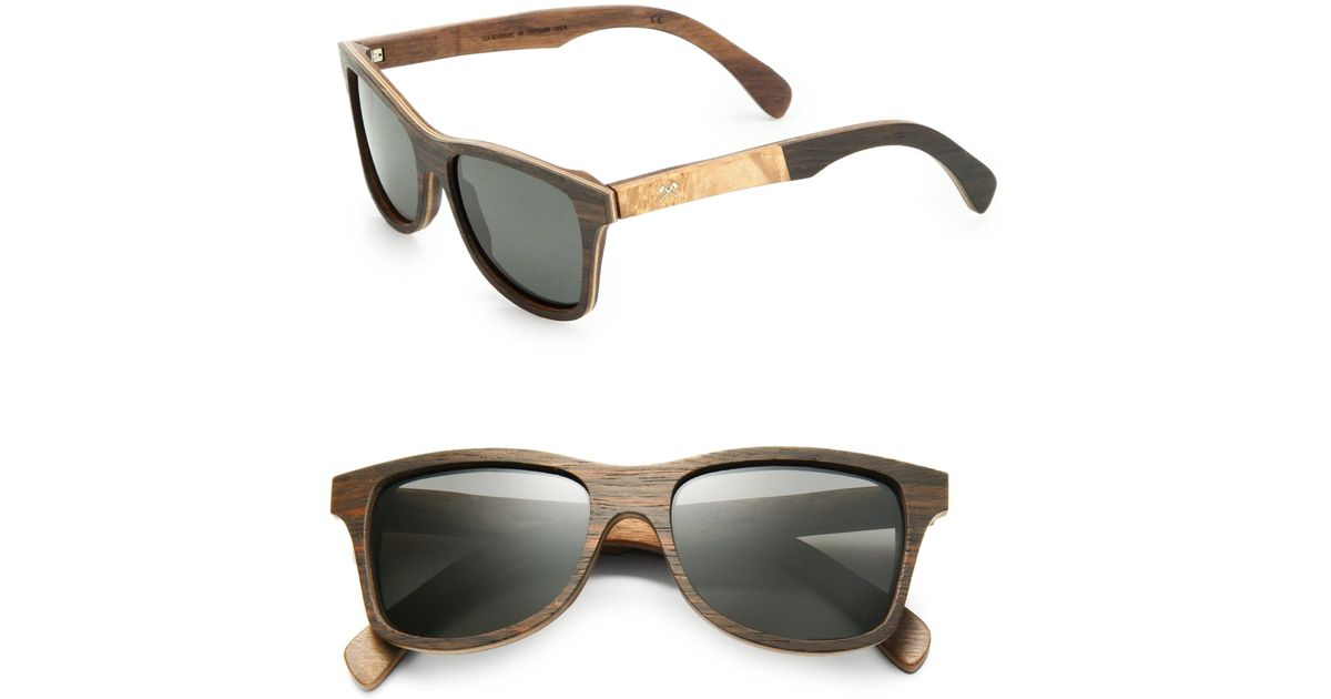45aa830199 Lyst - Shwood Canby Maplewood Square Sunglasses in Black for Men