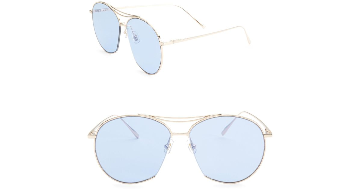 6bf7d8ff585 Lyst - Gentle Monster Jumping Jack 60mm Aviator Sunglasses in Blue