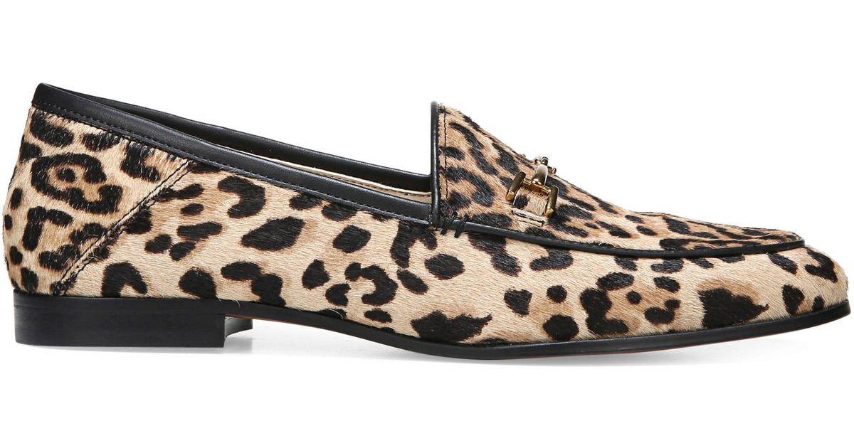 fe4a916f32a2 Sam Edelman Lorraine Leopard Print Calf Hair Loafers in Brown - Lyst