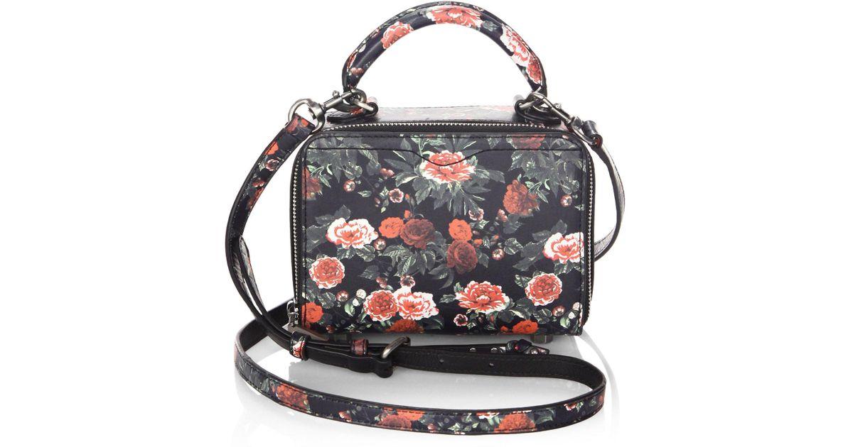 Lyst - Rebecca Minkoff Floral Leather Crossbody Bag