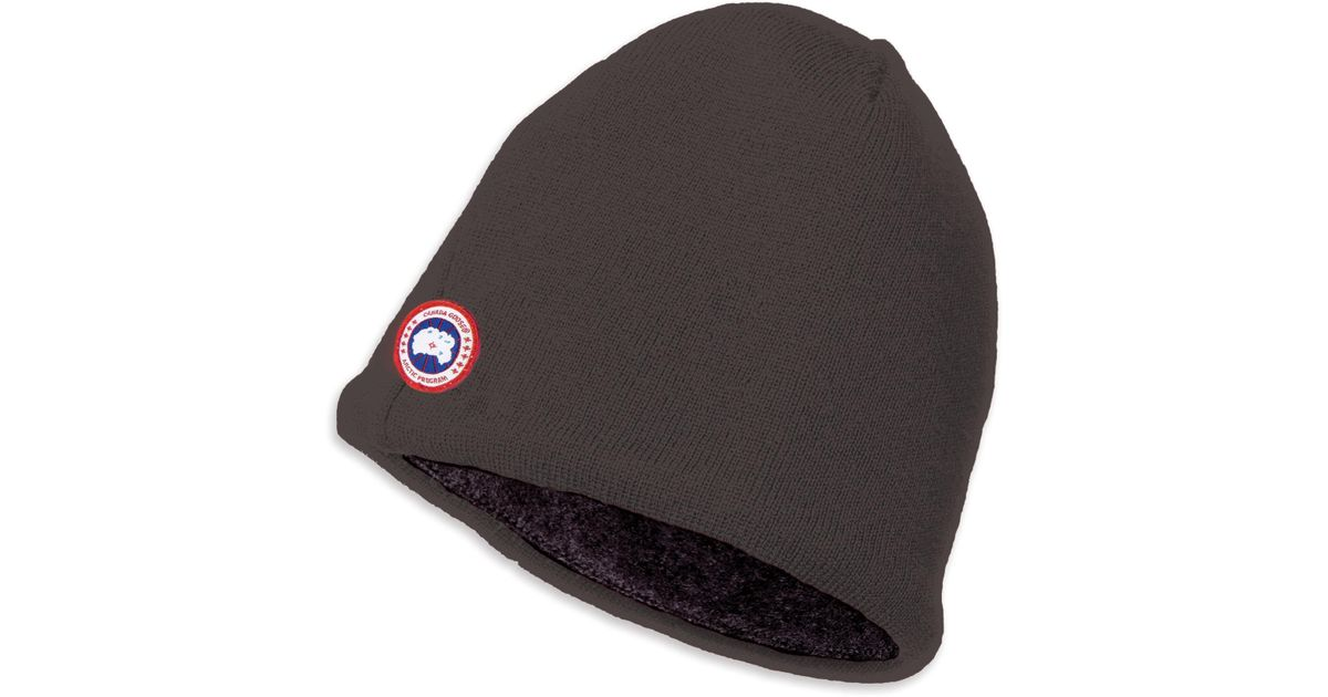 0d3ac9f7a Canada Goose Gray Merino & Fleece Beanie for men
