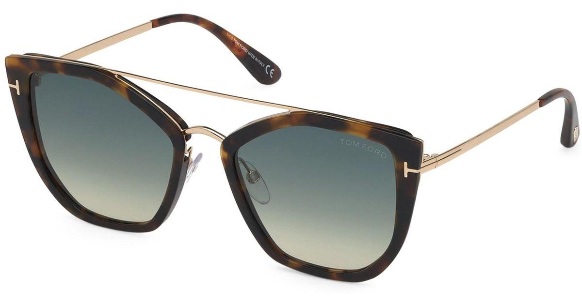 6665a1ef4ae0 Tom Ford Dahlia 55mm Cat Eye Sunglasses in Gray - Lyst